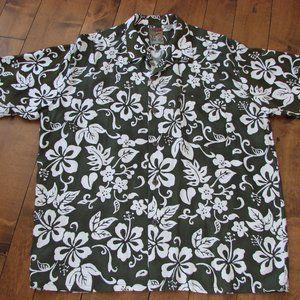 Pineapple Connection Hawaiian Olive Green Shirt